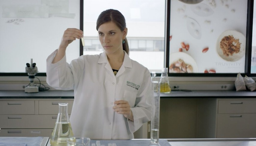 A scientist testing dietary supplements